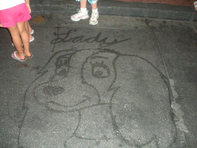 Delightful Disney Character Art Made out of Water by a Disney World Janitor