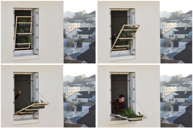 Retractable Window Planter