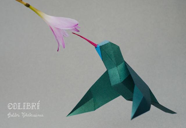 Geometric Paper Animal Sculptures