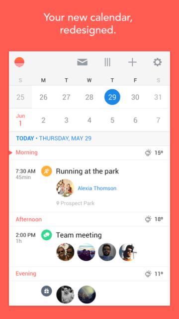 Sunrise Calendar Android
