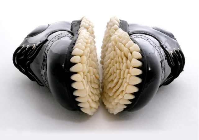 False Teeth Shoes by Fantich and Young