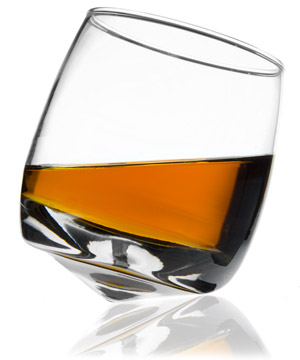 Wobbling Whiskey Glasses