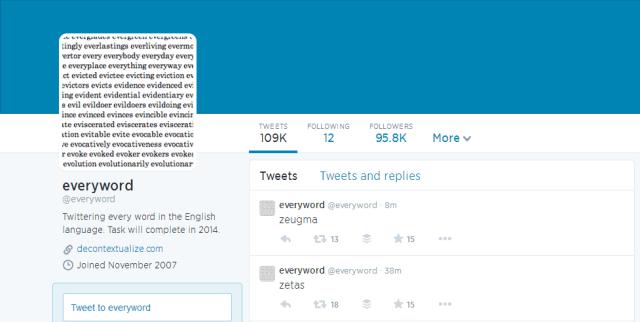 everyword Twitter Account