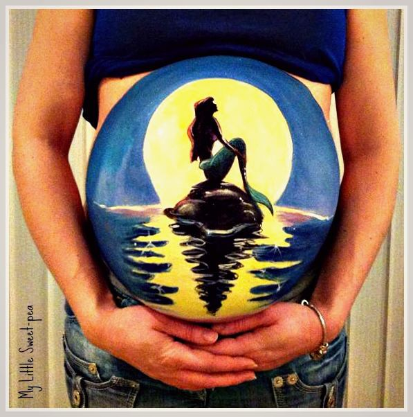 Pregnancy Bump Paintings by Carrie Preston