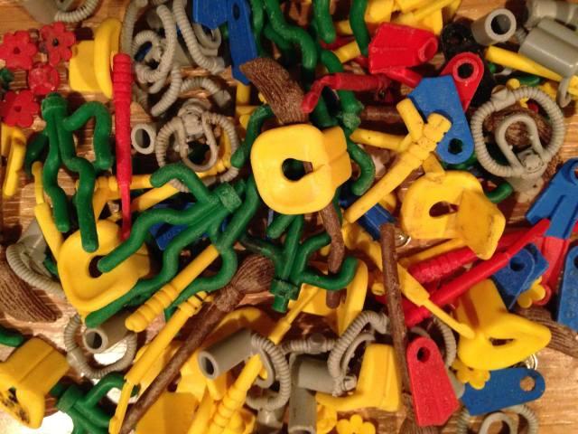 LEGO Pieces on the Beaches of Southwestern England