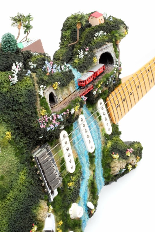 Tiny Railroad Dioramas on Everyday Objects
