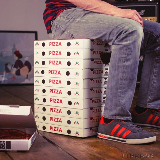 Pizza Box Stool