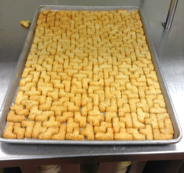 Puzzle Potatoes in Pan
