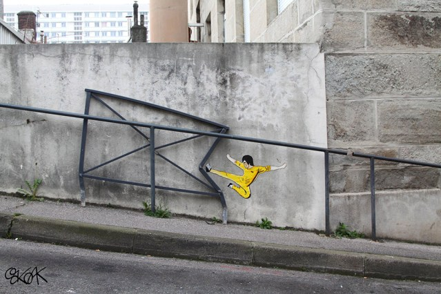 More Humorous Pop Culture and Cartoon Street Art by OakOak