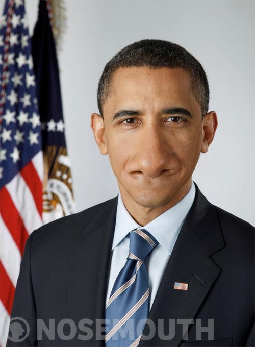 Nosemouth Barack Obama