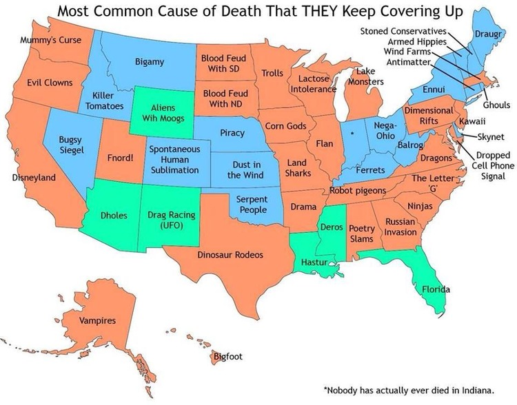 Supernatural Death Map
