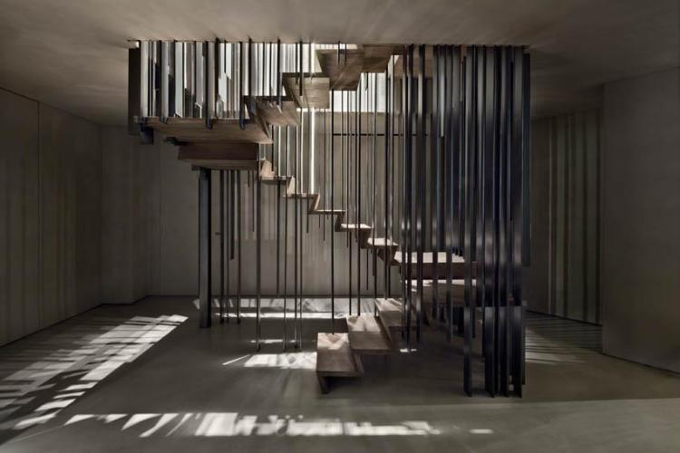 A Beautiful Staircase That Disappears Depending on Your Viewing Angle