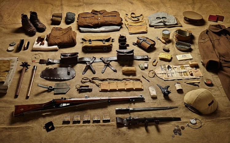 Photographic Inventories of British Soldiers' Kits from 1066 to 2014