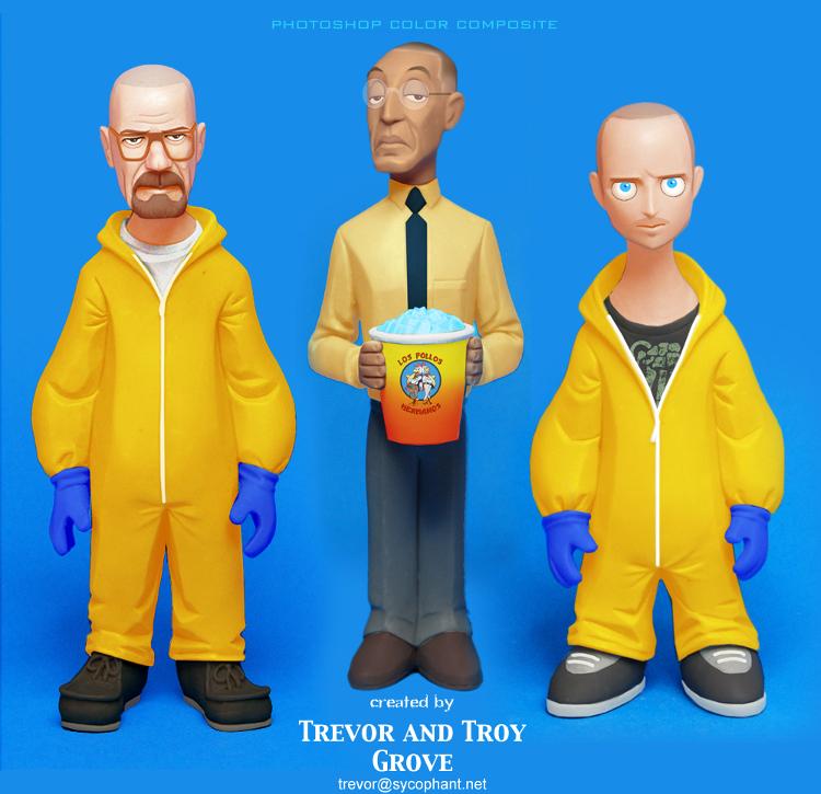 BREAKING BAD Toon-Up Figures: Walt, Gus, and Jesse