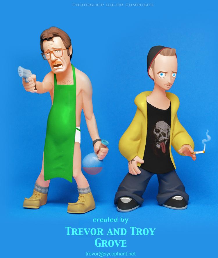BREAKING BAD Toon-Up Figures: Walt and Jesse
