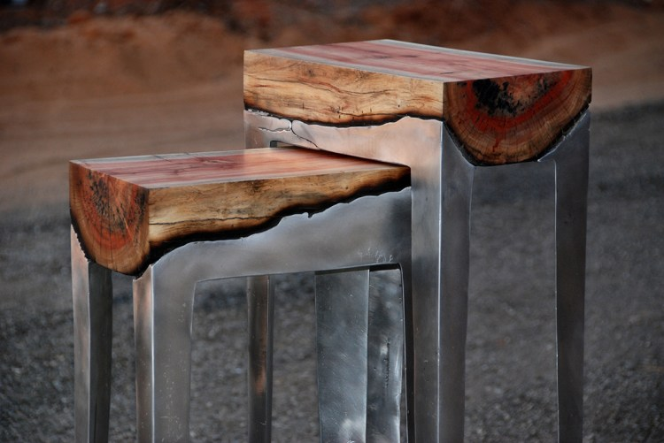 Wood and Cast Aluminum Furniture by Hilla Shamia