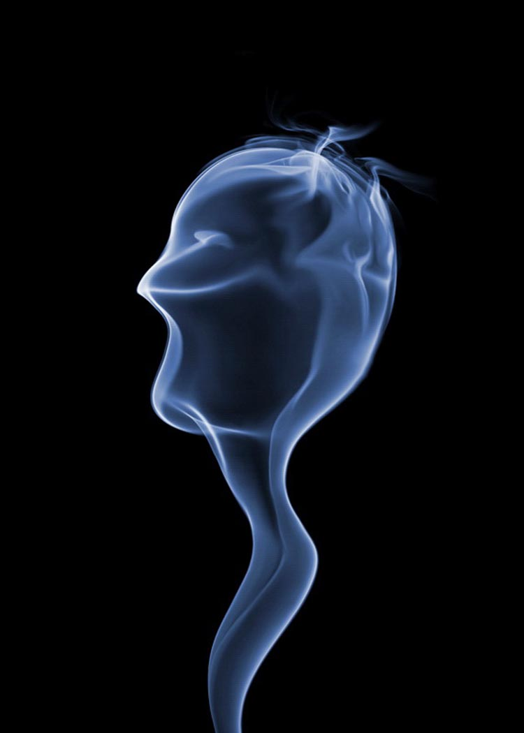 Intriguing Patterns in Cigarette Smoke Selected From 100,000 Photos