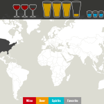 A Map Detailing the World's Alcoholic Preferences and Consumption by Country
