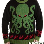 Cthulhu, Krampus, and Bigfoot Sweaters and Rugs by Middle of Beyond
