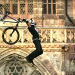 Mountain Biker Performs an Unprecedented 'Tsunami Flip' Trick During Red Bull Competiton