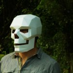 How to Make a Polygonal Skull Mask Out of Cardboard