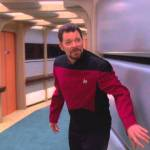 Outtakes From Season Seven of 'Star Trek: The Next Generation' Featuring Riker Chasing a Shipmate