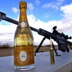 Gun Expert Skillfully Uncorks a Bottle of Champage With a .50 Caliber Rifle