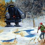 Artist Hilariously Augments Thrift Store Paintings With Sci-Fi, Fantasy, and Horror Characters