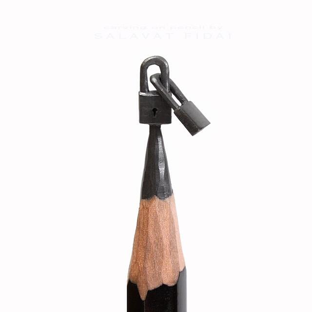 Pencil Graphite Sculptures by Salavat Fidai