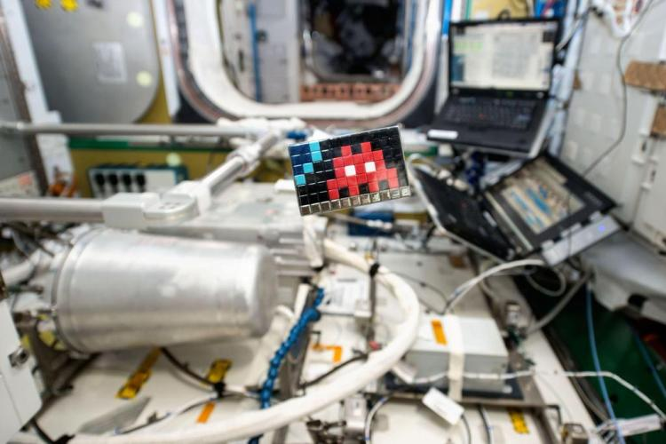 Space Invaders Art Aboard ISS