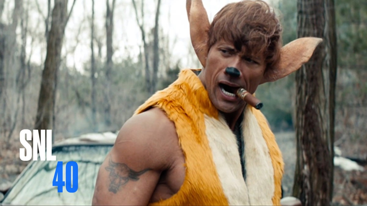 Dwayne 'The Rock' Johnson Stars as a Vengeful Bambi in a Gritty Parody by 'SNL' of the Classic Disney Film