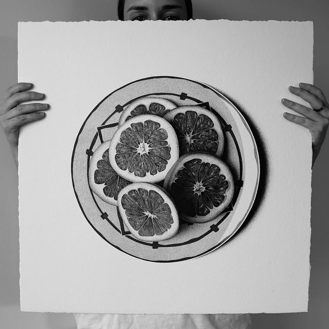 Hyperrealistic Food Drawings by CJ Hendry