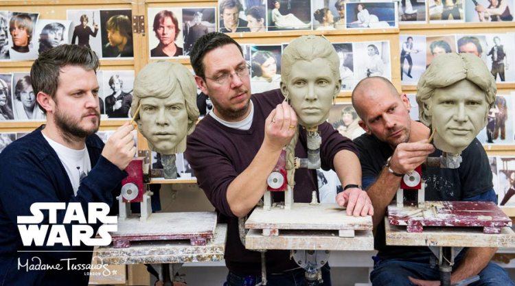 TussaudStarWarsSculptingHeads