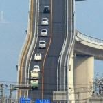 Eshima Ohashi Bridge, A Tall Bridge in Western Japan That Resembles a Roller Coaster for Cars