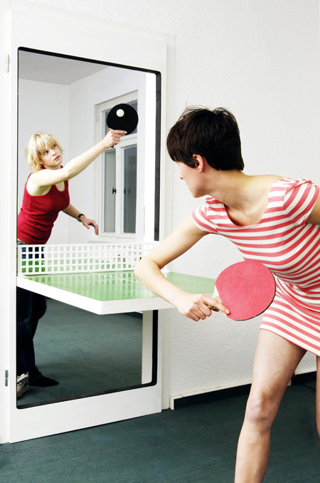 how to make a ping pong door