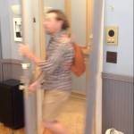 An Excited Fan Breaks the New York City 'Seinfeld' Set Recreation Doing a Kramer Impression