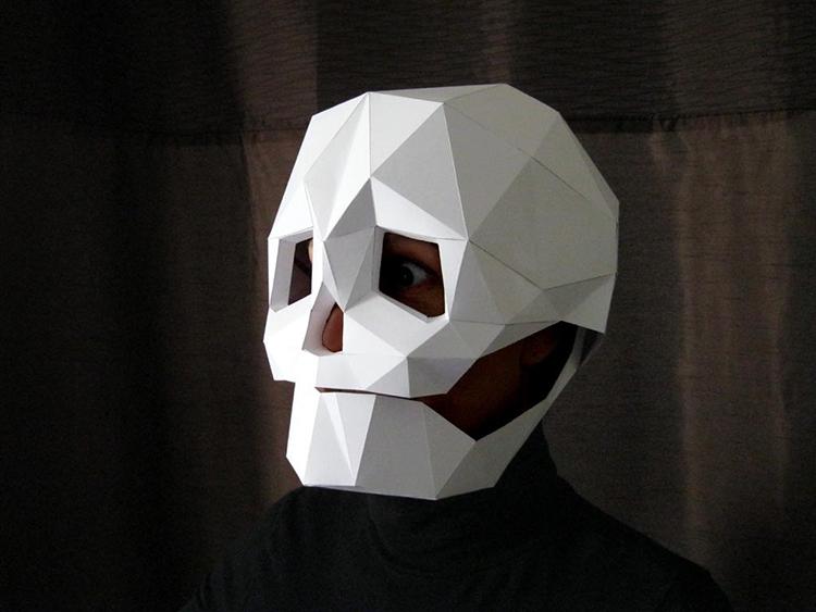 Paper Skull Mask