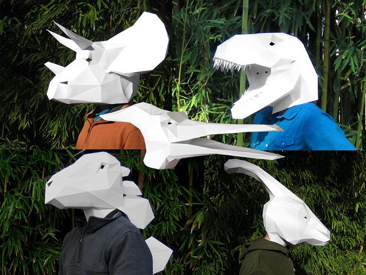 Dinosaur Mask Patterns
