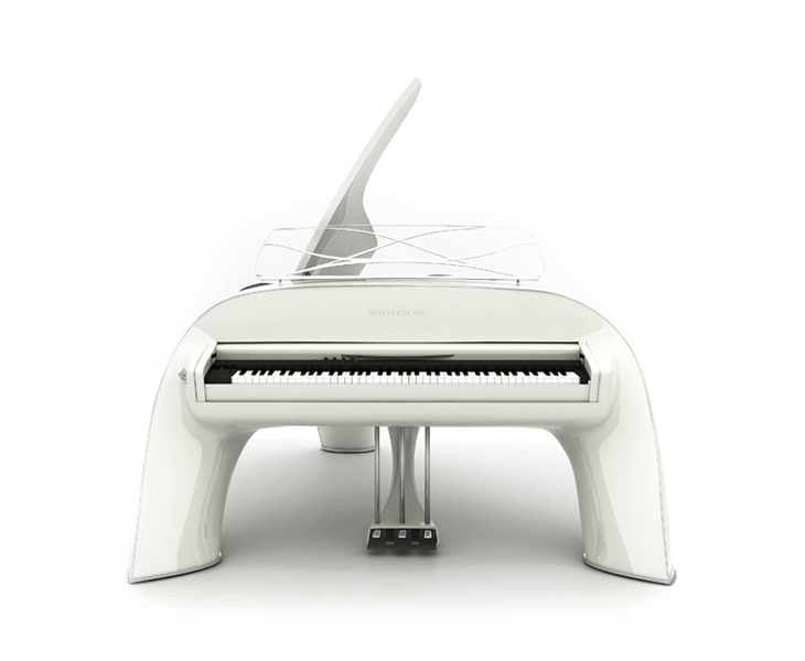 whaletone white piano front