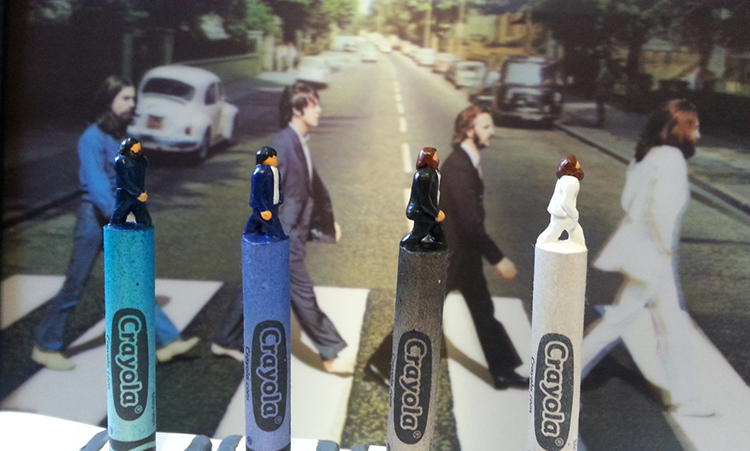 The Beatles Abbey Road Carved Crayons