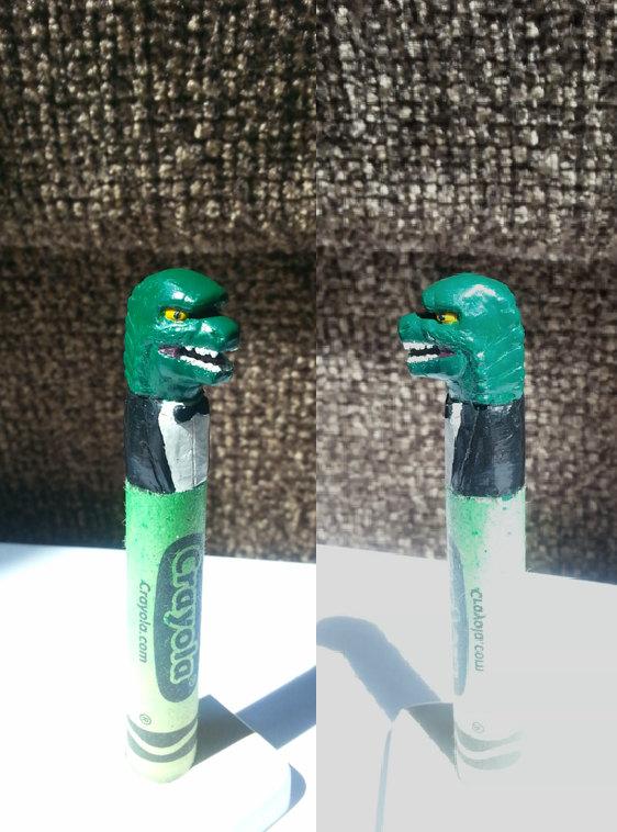 Classy Godzilla Carved Crayon