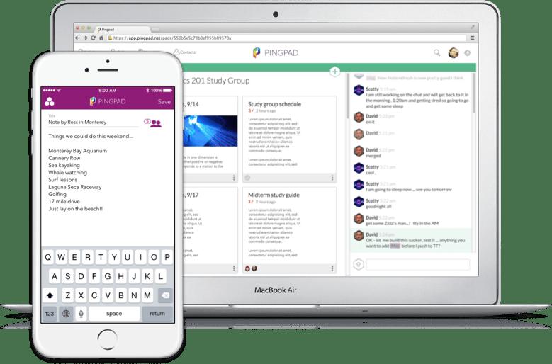 Pingpad App on Laptop and Phone