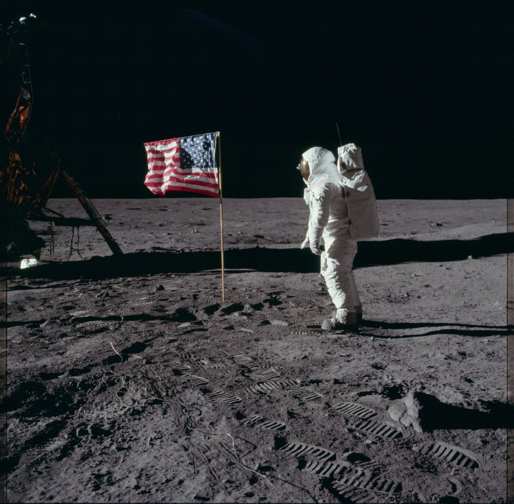 Apollo 11 Photo of American Flag on Lunar Surface