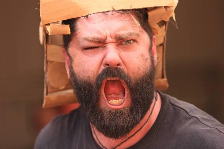 Boxwars Man in a Helmet