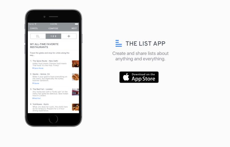 The List App