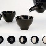 Moon Glass, A Ceramic Liquor Cup That Displays Different Phases of the Moon As You Drink From It