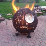 An Incredible Steel Star Wars Death Star II Fire Pit