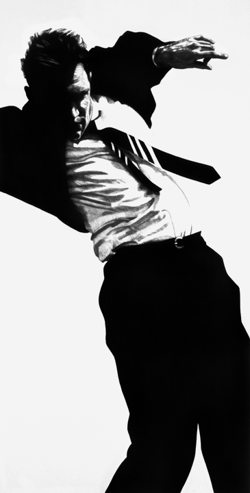 Amazing large scale charcoal drawings by Robert Longo