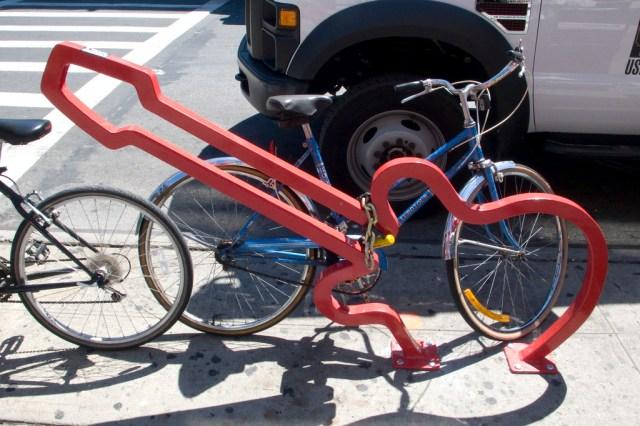 David Byrne bike racks