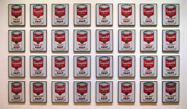 32 Campbell's Soup Cans by Andy Warhol